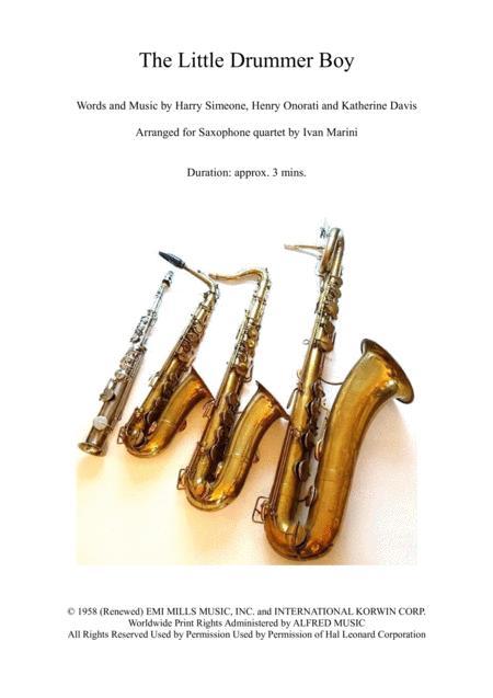 The Little Drummer Boy - Saxophone Quartet
