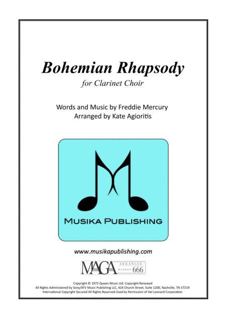 Bohemian Rhapsody - for Clarinet Choir