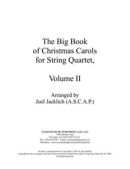 The Big Book of Christmas Carols for String Quartet, Vol. II
