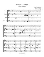 Away in a Manger (String Quartet) - Score and parts