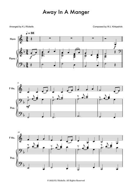 Away In A Manger - Horn in F solo