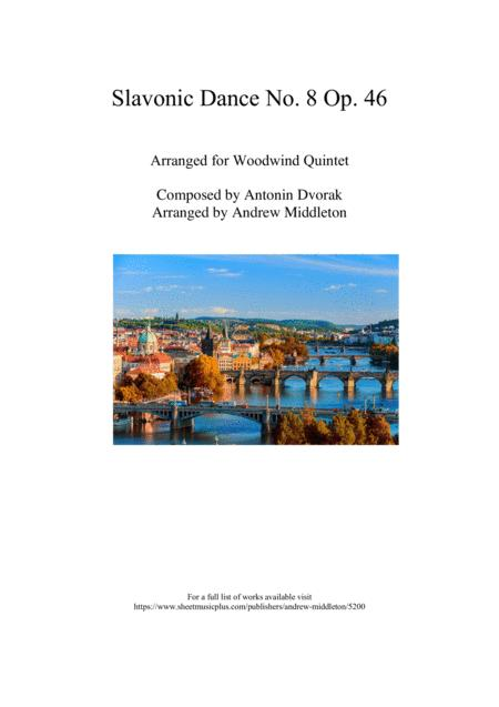 Slavonic Dance No. 8, Op. 46 for Woodwind Quintet
