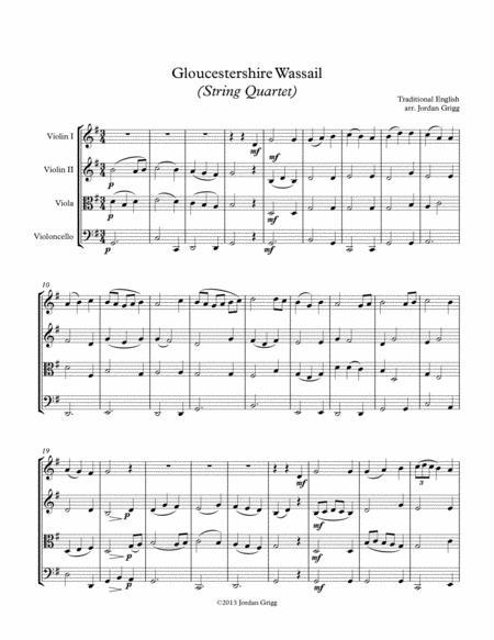 Gloucestershire Wassail (String Quartet)