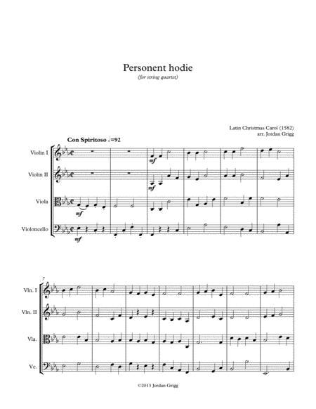 Personent hodie (for string quartet)