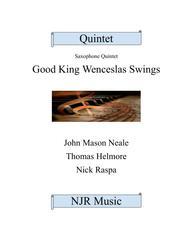 Good King Wenceslas Swings (easy sax quintet) Score & parts