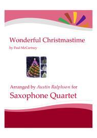 Wonderful Christmastime - sax quartet