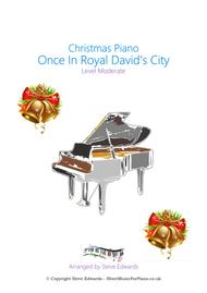Once In Royal David's City - Solo Piano - Moderate