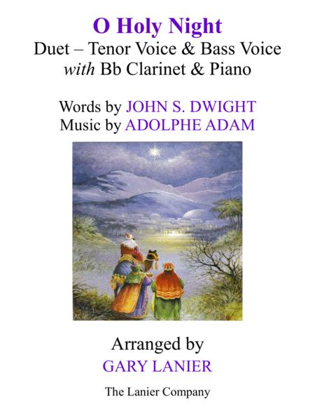 O HOLY NIGHT (Duet - Tenor Voice, Bass Voice with Bb Clarinet & Piano - Score & Parts included)