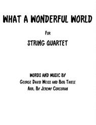 What A Wonderful World for String Quartet