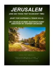 Jerusalem (Duet for Soprano and Tenor Solo)