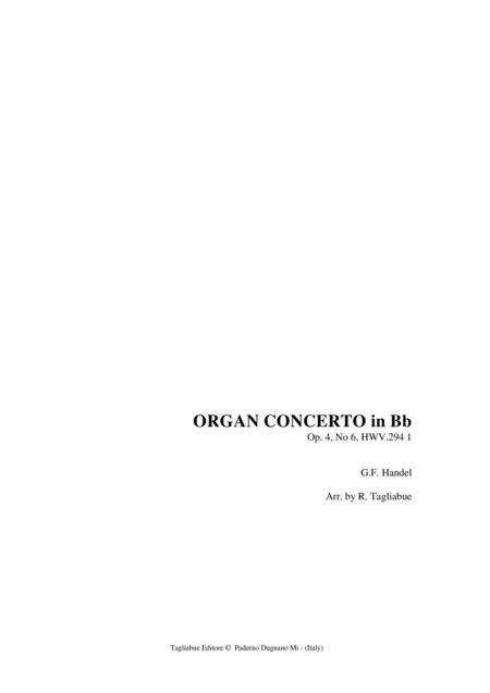 HANDEL - ORGAN CONCERTO in Bb Op. 4, No 6, HWV.294-1