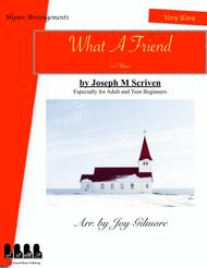 What A Friend We Have In Jesus Hymn Arrangement arr. for Adult beginners
