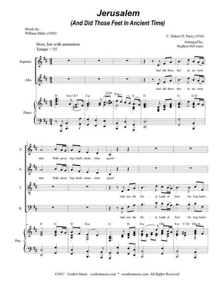 Jerusalem (SATB)