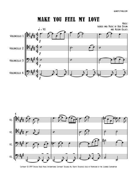 Make You Feel My Love - Cello Quartet