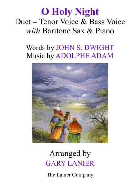 O HOLY NIGHT (Duet - Tenor Voice, Bass Voice with Baritone Sax & Piano - Score & Parts included)