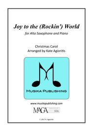 Joy to the (Rockin') World - Alto Saxophone and PIano