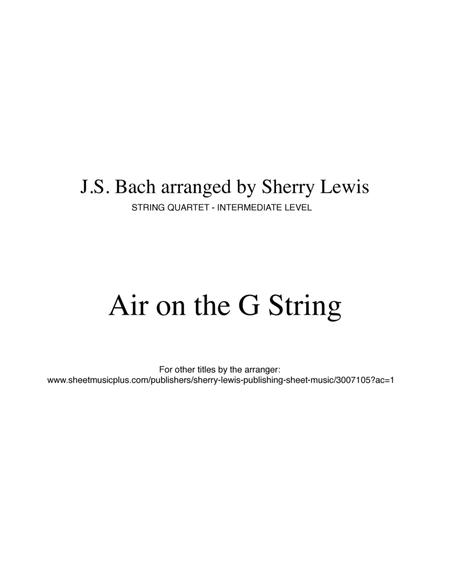 Air on the G String STRING DUO (for string duo)