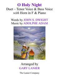 O HOLY NIGHT (Duet - Tenor Voice, Bass Voice with Horn in F & Piano - Score & Parts included)
