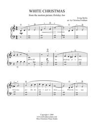 White Christmas - Beginner Piano Solo