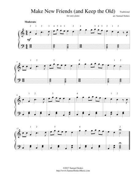 Make New Friends (and Keep the Old) - for easy piano