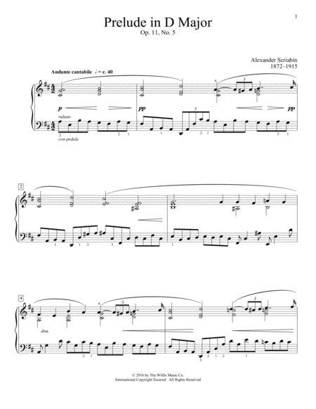 Prelude In D Major, Op. 11, No. 5