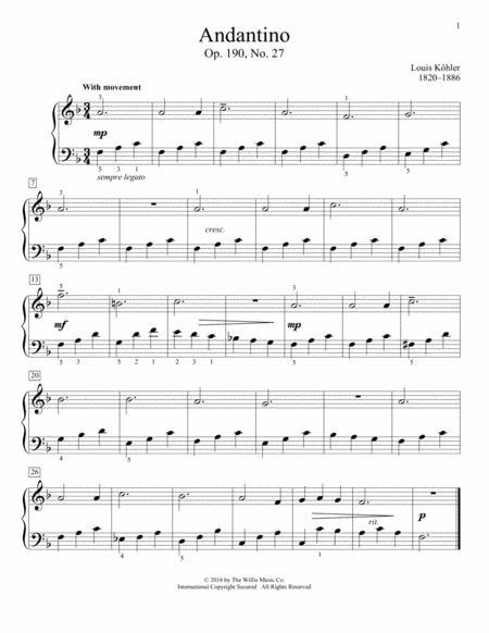 Andantino, Op. 190, No. 27