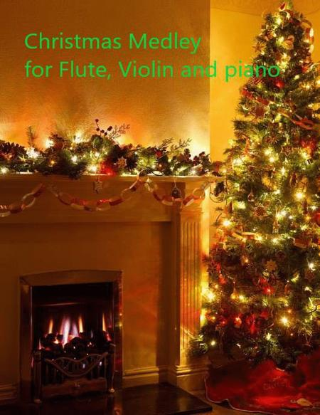 Christmas Medley for Flute, Violin and Easy Piano Classics