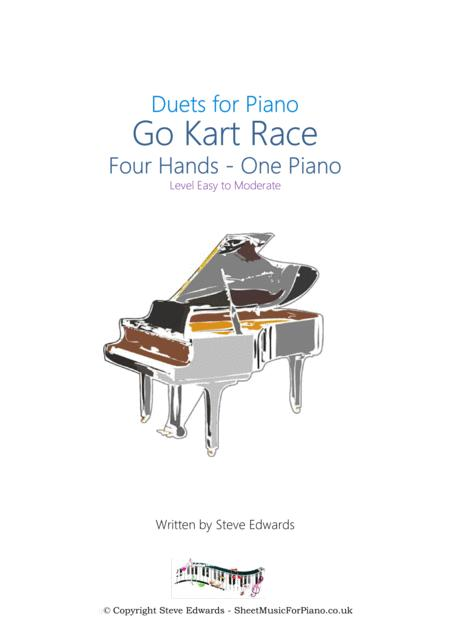 Go Kart Race - Four Hands - One Piano - Easy to Moderate