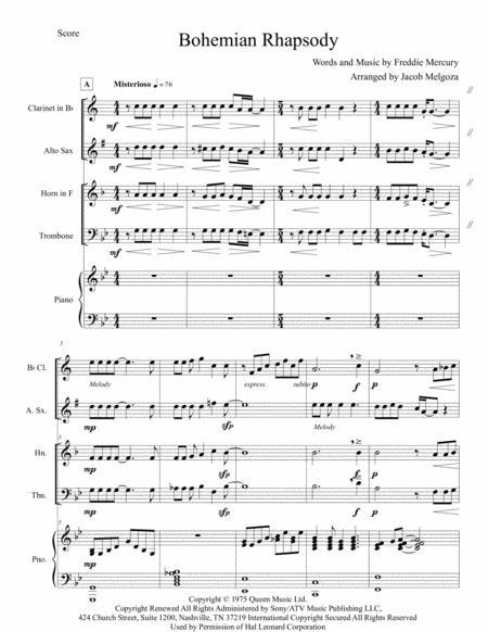 Bohemian Rhapsody for Chamber Ensemble