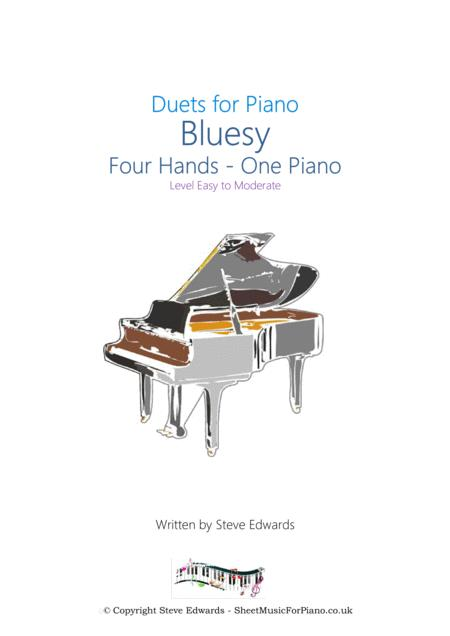 Bluesy - Four Hands - One Piano - Easy/Moderate
