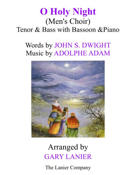 O HOLY NIGHT (Men's Choir - TB with Bassoon & Piano/Score & Parts included)