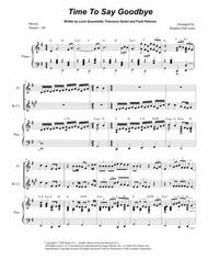 Time To Say Goodbye (Duet for Flute and Bb-Clarinet)