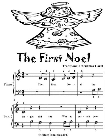 Preview The First Noel Beginner Piano Sheet Music Tadpole