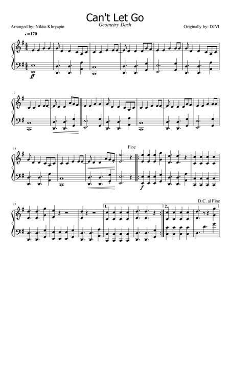 Download Cant Let Go Geometry Dash Soundtrack Piano Arrangement