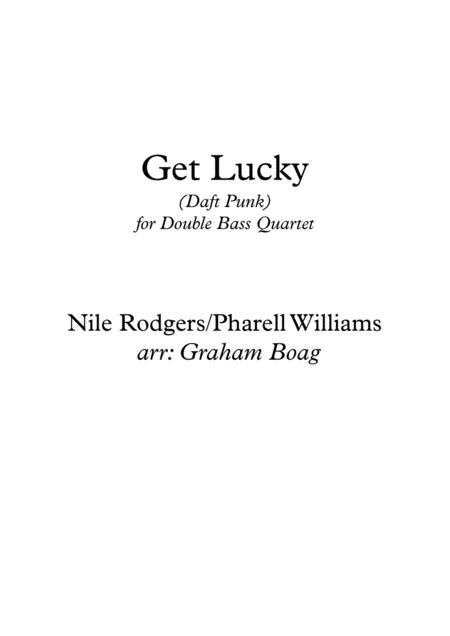 Get Lucky for Double Bass Quartet