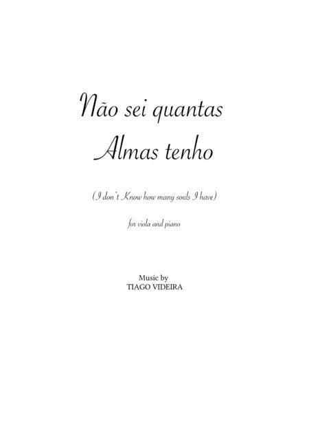 I don't know how many souls I have (Não sei quantas almas tenho) for Viola and Piano