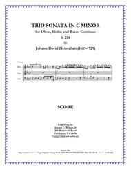 Heinichen Trio Sonata in C Minor for Oboe, Violin and B.C., S. 258