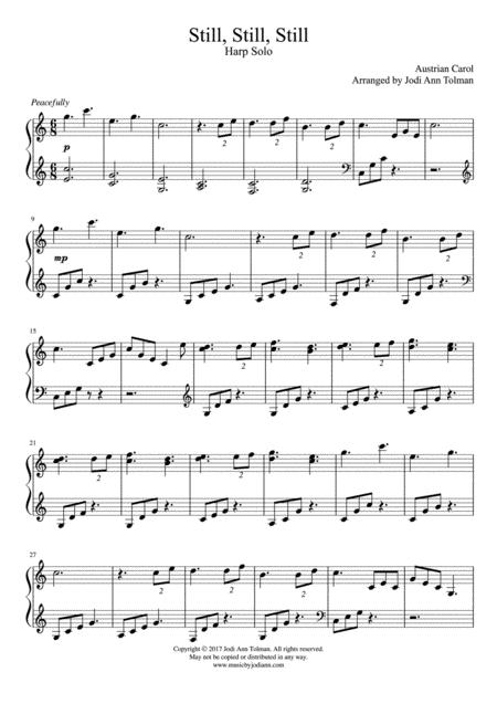 still, still, still, harp solo by austrian carol - digital sheet music for  individual part,sheet music single,solo part - download & print s0.284585 | sheet  music plus  sheet music plus