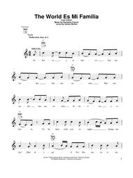 Download The World Es Mi Familia Sheet Music By Adrian