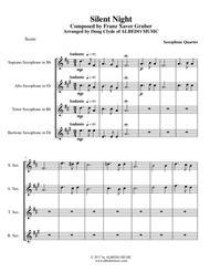 Silent Night for Saxophone Quartet