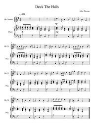 Deck The Halls - Clarinet Solo