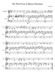 We Wish You A Merry Christmas - Trombone (treble clef)