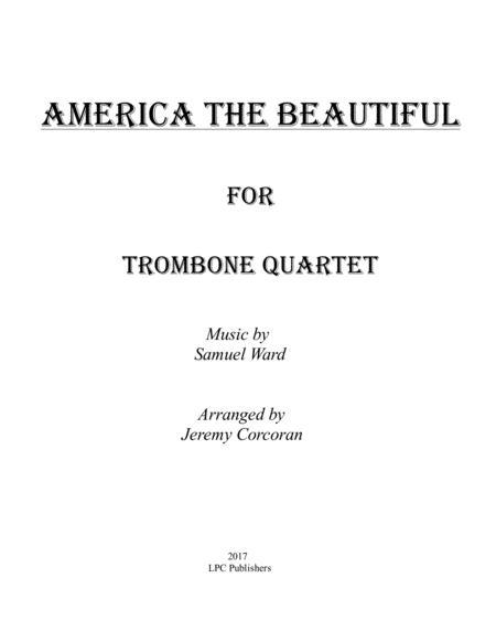 America the Beautiful for Trombone Quartet