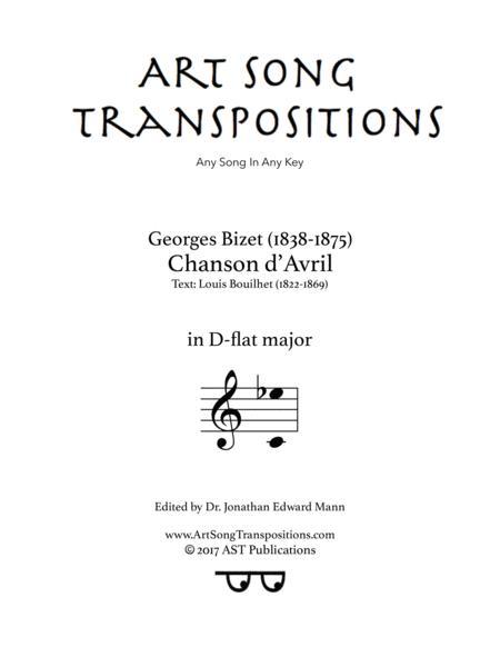 Chanson d'Avril (D-flat major)