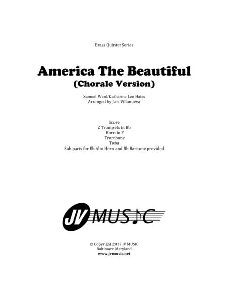 America The Beautiful (Chorale Version) for Brass Quintet