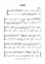 ANONYMOUS Sec. XVIII - Versetti for Organ