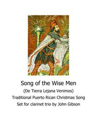 Song of the Wise Men - clarinet trio