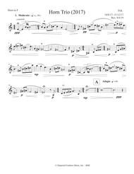 Horn Trio (2017) for violin, horn and piano - horn part