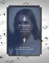 Thanksgiving - an original hymn