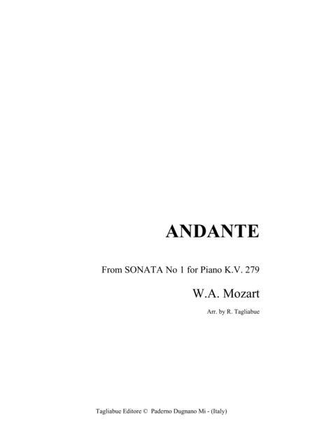 MOZART - EASY PIANO - Andante from Sonata KV 279